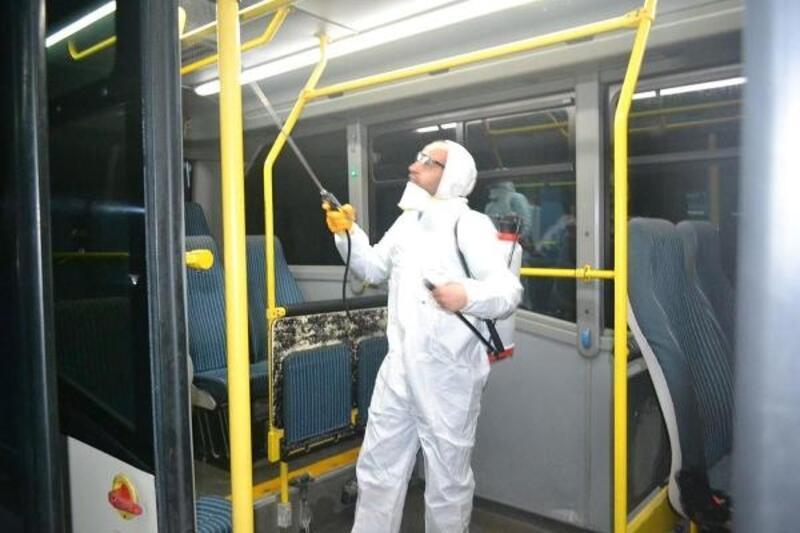 Lüleburgaz'da minibüsler dezenfekte edildi, etkinlikler iptal
