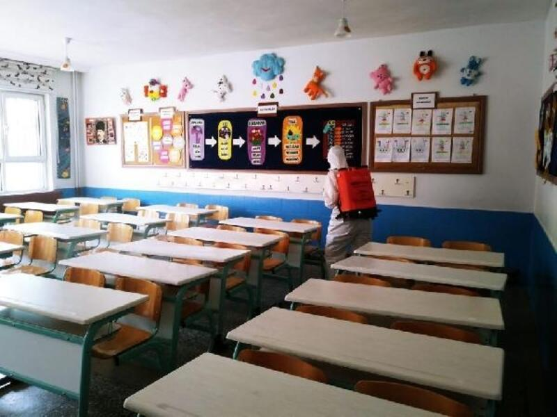 İnegöl'de 142 eğitim kurumu dezenfekte edildi