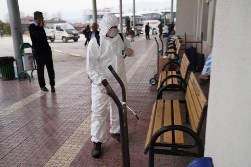Erbaa'da dezenfekte çalışması
