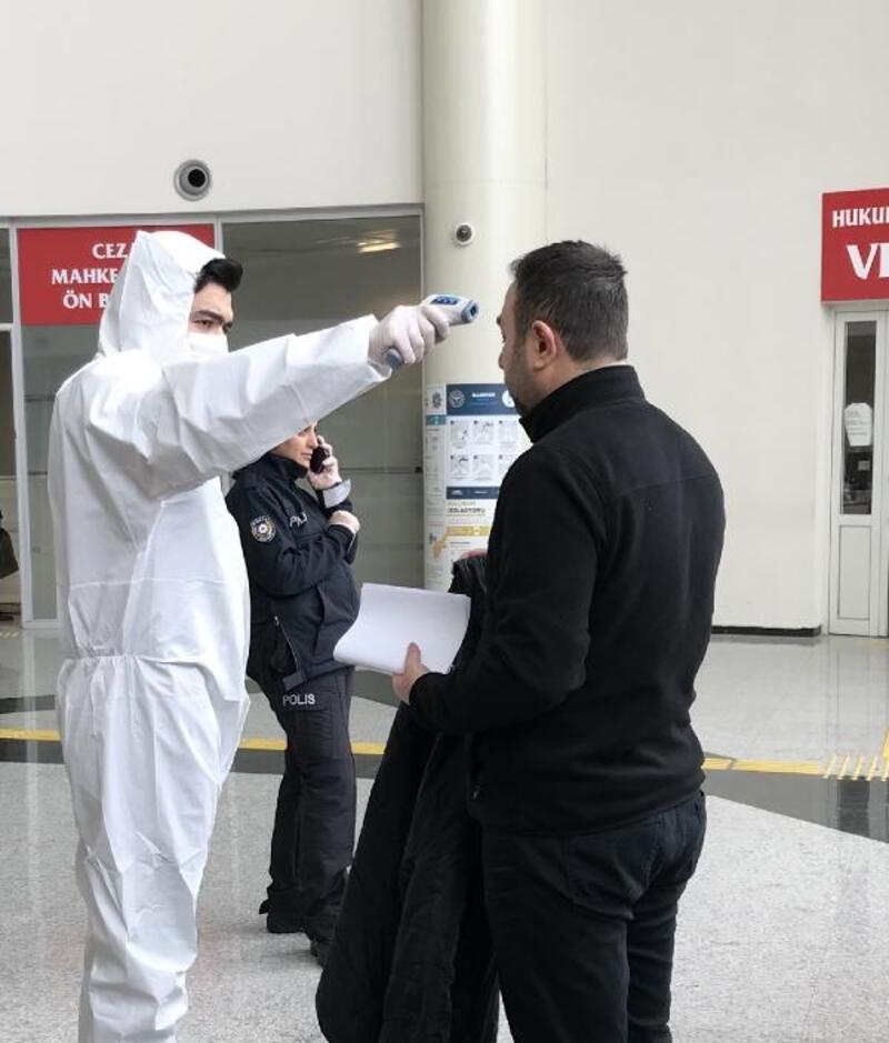Kayseri adliyesinde koronavirüs tedbirleri