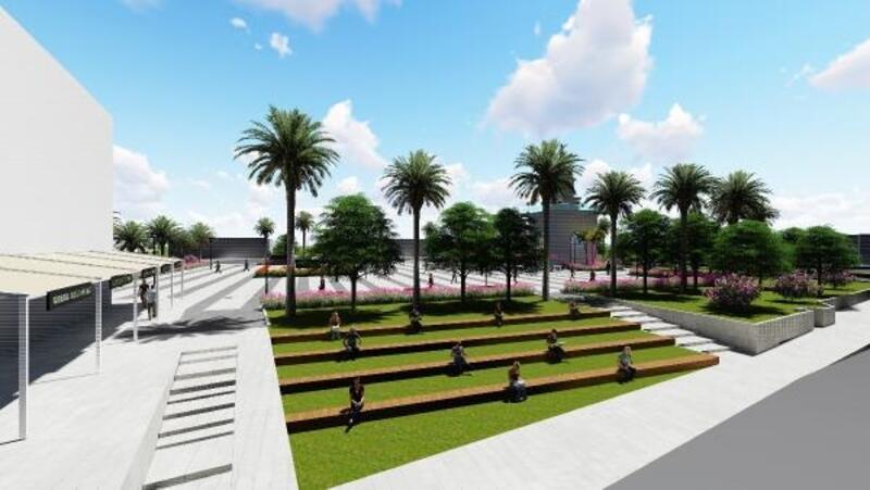 Büyükşehir, Kemer Cumhuriyet Meydanı'nı yeniliyor