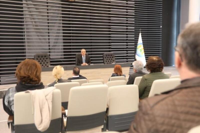 Mezitli Belediyesi'nde koronavirüs toplantısı