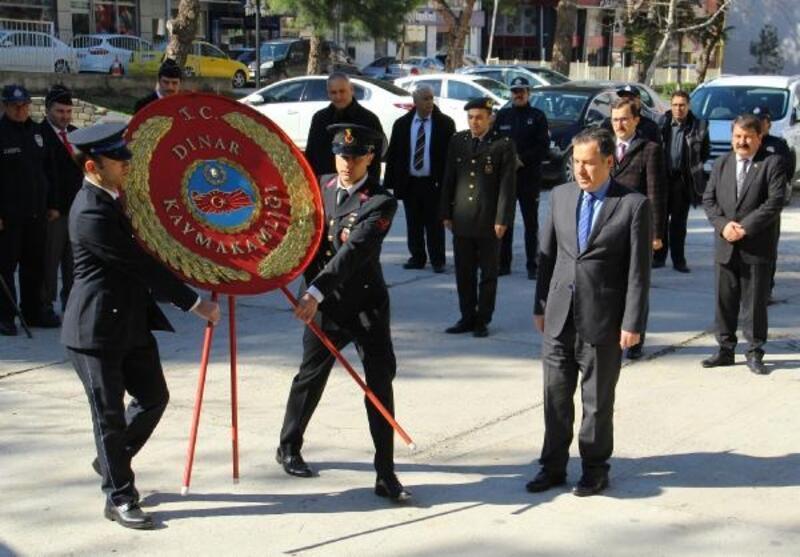 Dinar'da 18 Mart töreni yapıldı