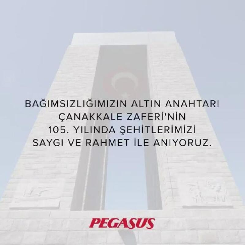 Pegasus'tan Çanakkale Zaferi paylaşımı