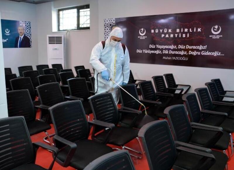 BBP Genel Merkezi dezenfekte edildi