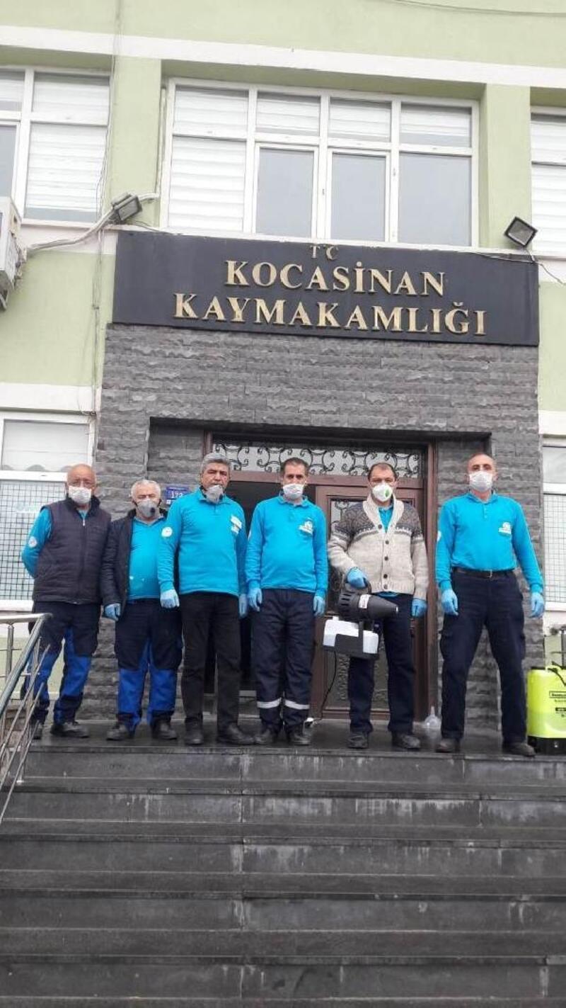 Kocasinan'da kamu kurumları dezenfekte edildi