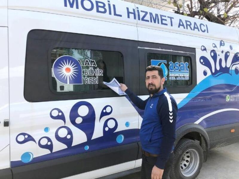 ASAT'ın mobil hizmet aracı ilçelerde