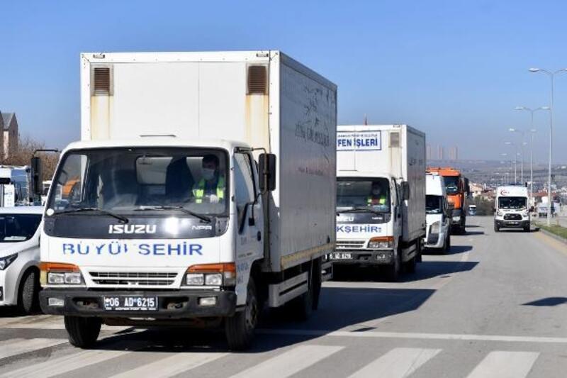 Ankara Büyükşehir Belediyesinden karantina bölgesine destek