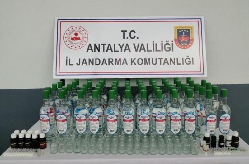 Manavgat'ta sahte içki operasyonu