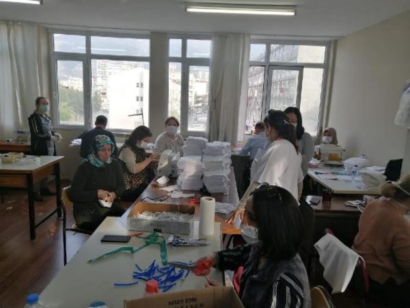 Halk Eğitim Merkezi, 100 bin adet maske üretecek