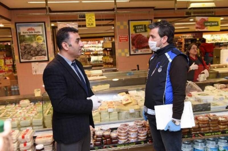 Altındağ'da marketlere koronavirüs bilgilendirmesi