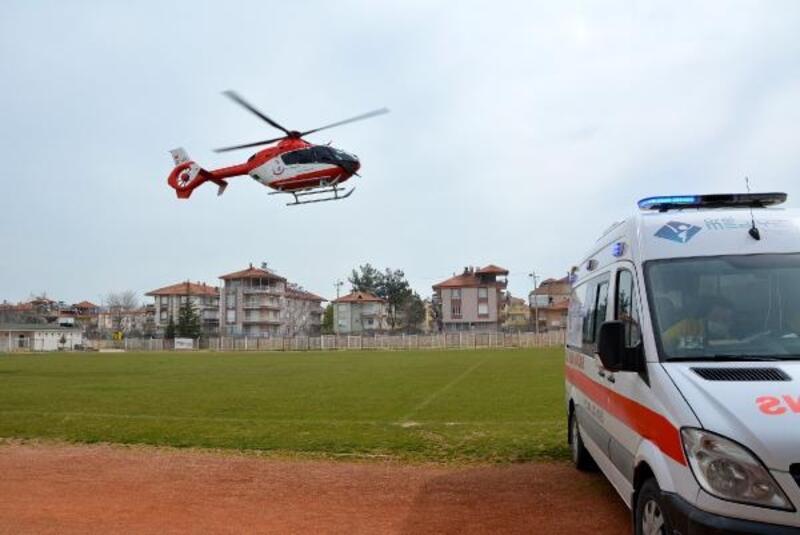 Ambulans helikopterle Antalya'ya sevk edildi