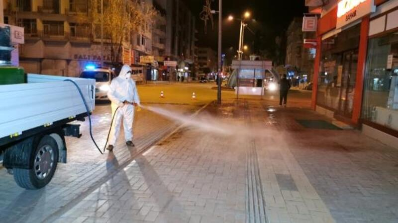 Bucak'ta dezenfekte çalışmaları