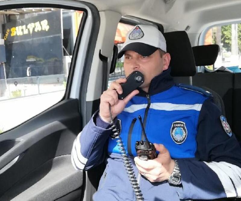 Trafik zabıta ekiplerinden 'evde kal' çağrısı