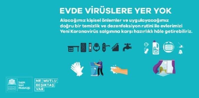 Beşiktaş Belediyesi bireysel dezenfekte rehberi yayınladı