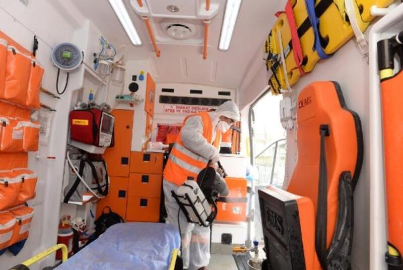 Altındağ'da ambulanslara koronavirüs önlemi