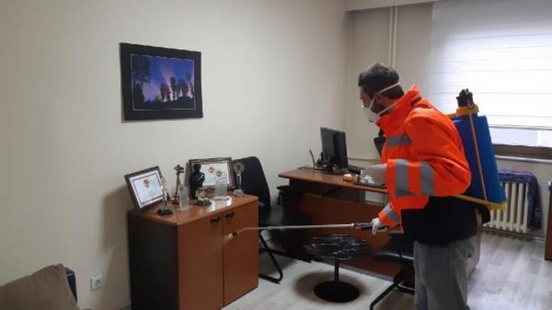Trabzon'da dezenfekte çalışmaları sürüyor