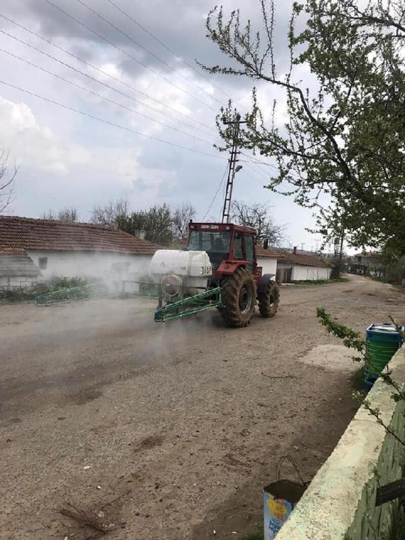 Edirne'de köyler dezenfekte ediliyor