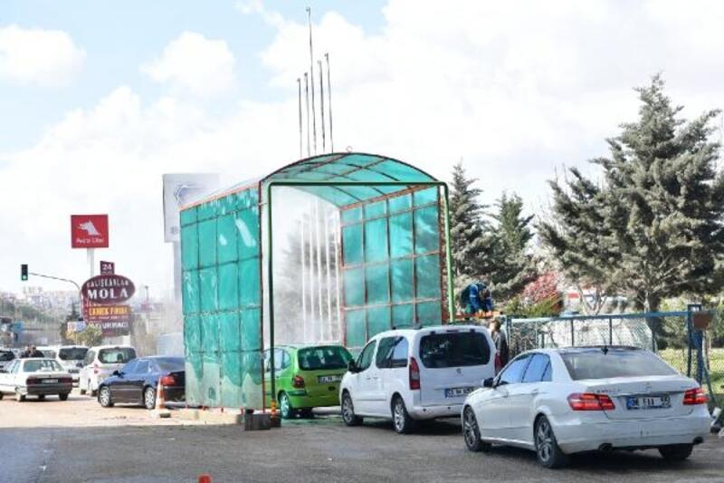 Ankara'da koronavirüse karşı 'Dezenfekte Tüneli'