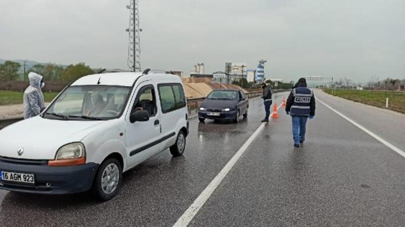 Mustafakemalpaşa'da araç yoğunluğu azaldı