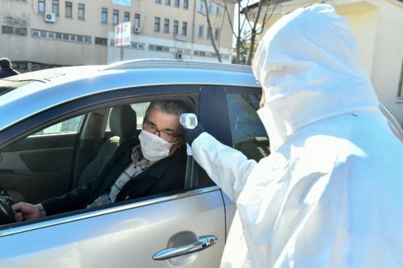 Ankara Toptancı Hâli'nde koronavirüs önlemi