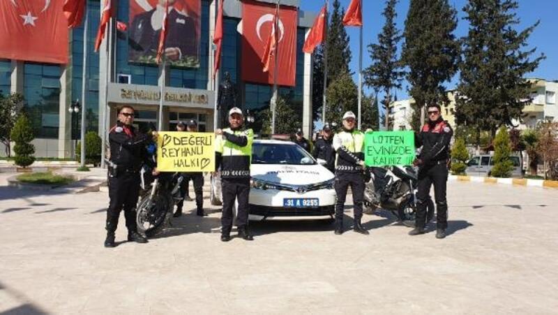 Polisten vatandaşlara 'Evde kalın' çağrısı