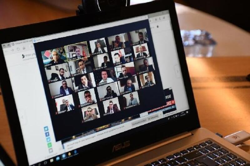 İnegöl Belediyesi'nde video konferanslı toplantı