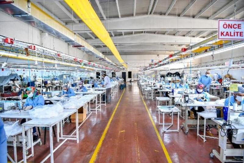 Malatya'da maske üretiminde hedef: 3 milyon