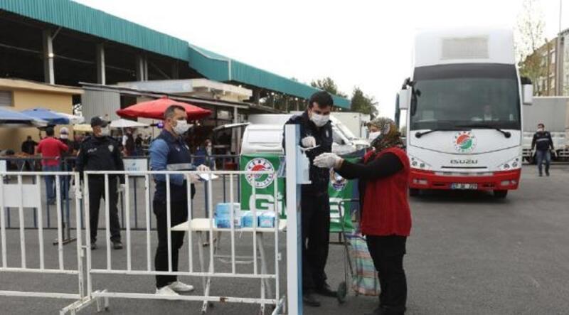 Kepez'in pazarlarına koronavirüs düzenlemesi