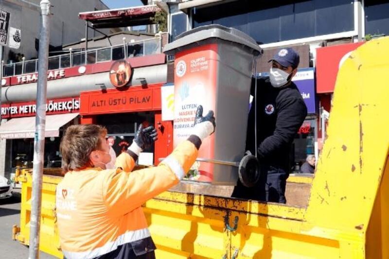 Kağıthane'ye 150 adet tıbbi atık konteyneri yerleştirildi