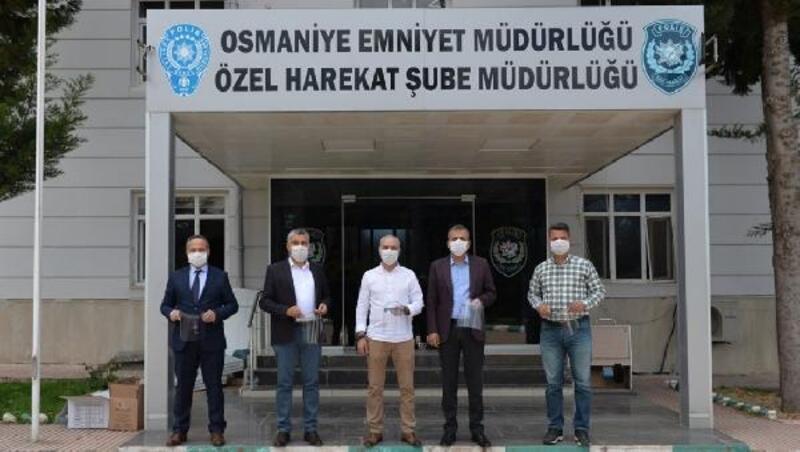 BİLSEM'de üretilen 600 Yüz Koruyucu Siperlikli maske Emniyet'e teslim edildi