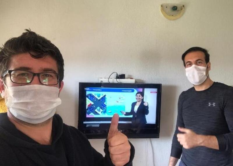 Öğretmenlerden Suriyeli öğrencilere televizyon
