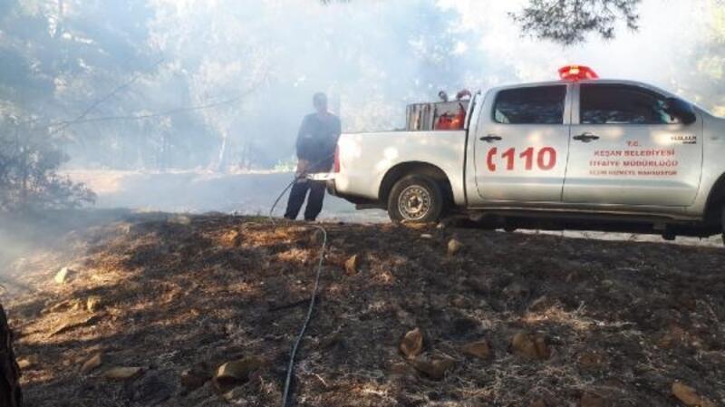 Keşan'da ormanlık alanda çıkan yangın söndürüldü