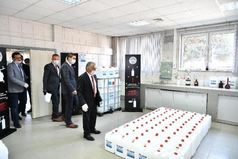 Büyükşehir Belediyesi, dezenfektan üretimine başladı