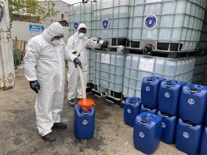 Bursa Büyükşehir Belediyesi'nden  ilçelere dezenfektan desteği