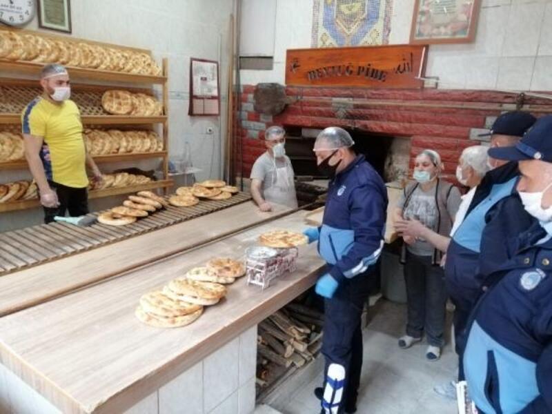 Tokat'ta zabıta ekiplerinden fırın denetimi