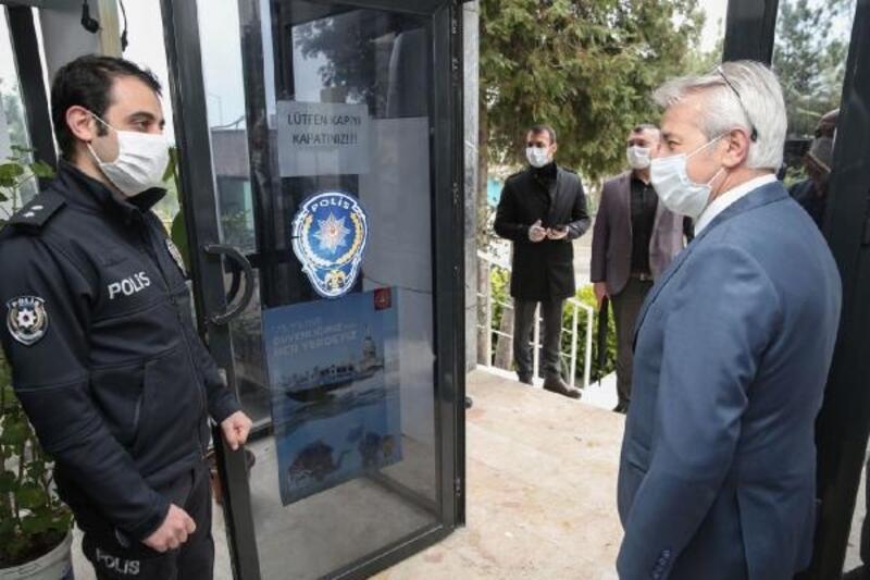 Nilüfer Belediye Başkanı Erdem'den görev başındaki çalışanlara moral ziyareti