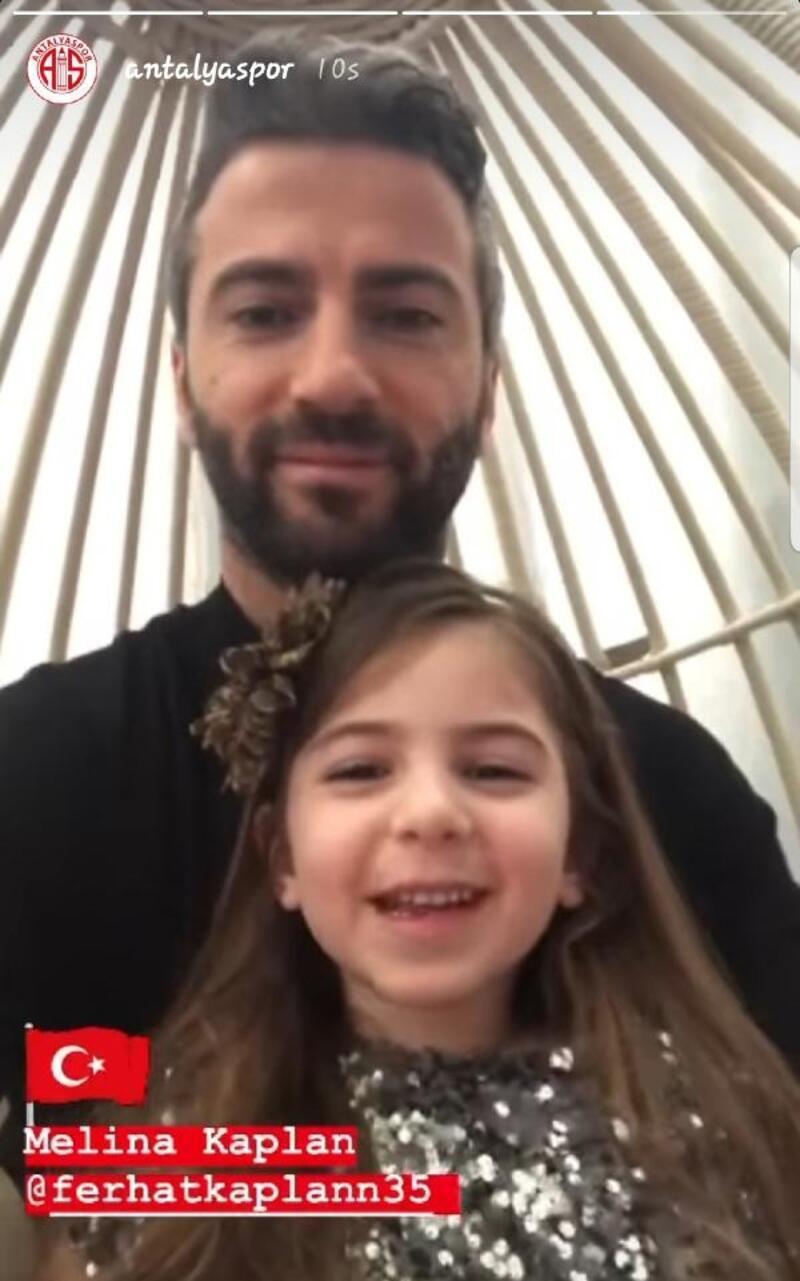 Antalyaspor'dan futbolcu ve çocuklarıyla 23 Nisan mesajı