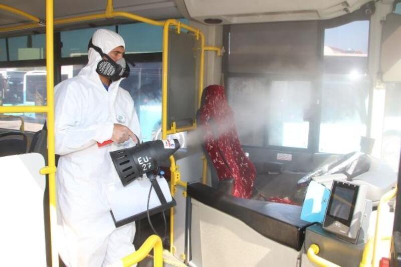 Toplu ulaşım araçlarına dezenfekte