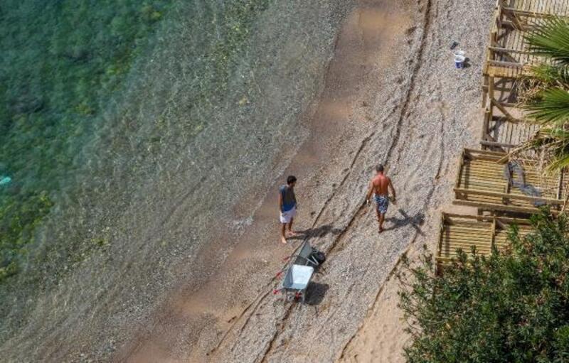 Mermerli Plajı sezona hazırlanıyor
