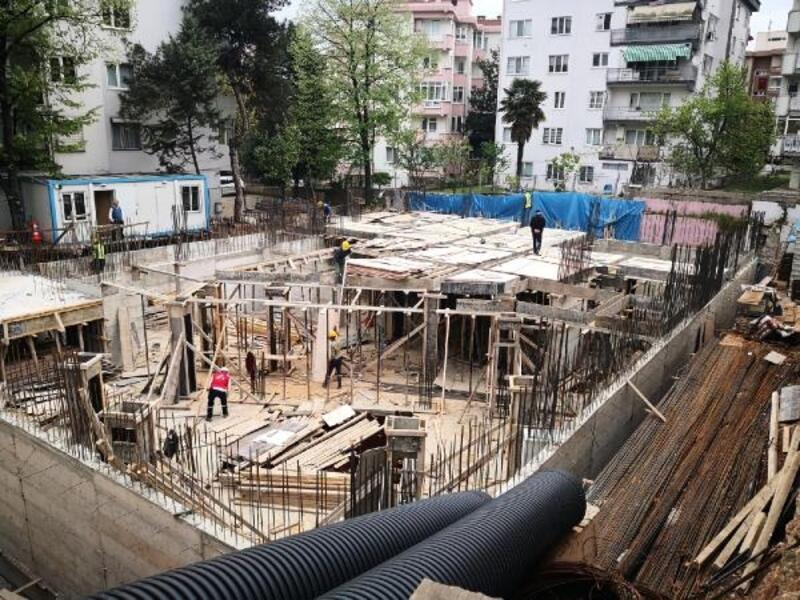 Osmangazi'de erkek öğrenci yurdunun inşaatı sürüyor