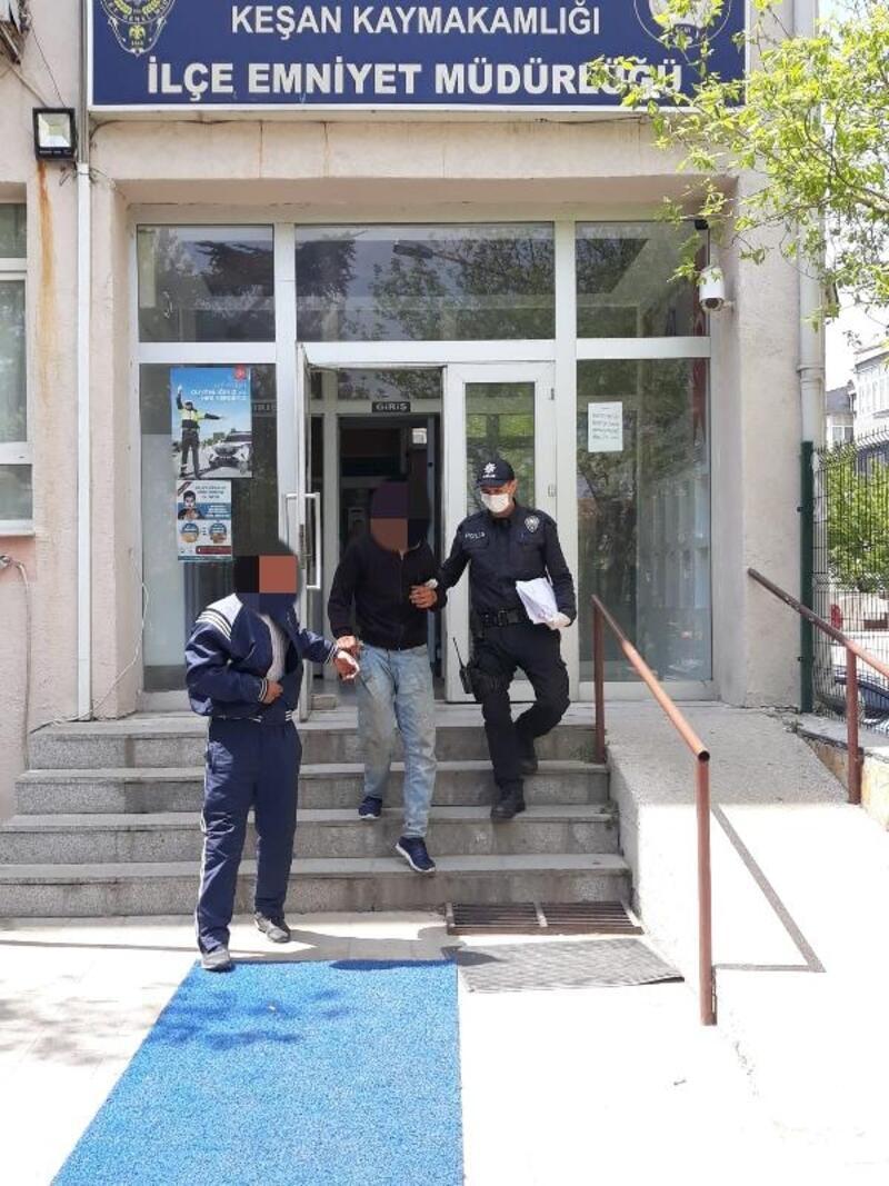 Keşan'da 2 hırsızlık şüphelisi tutuklandı