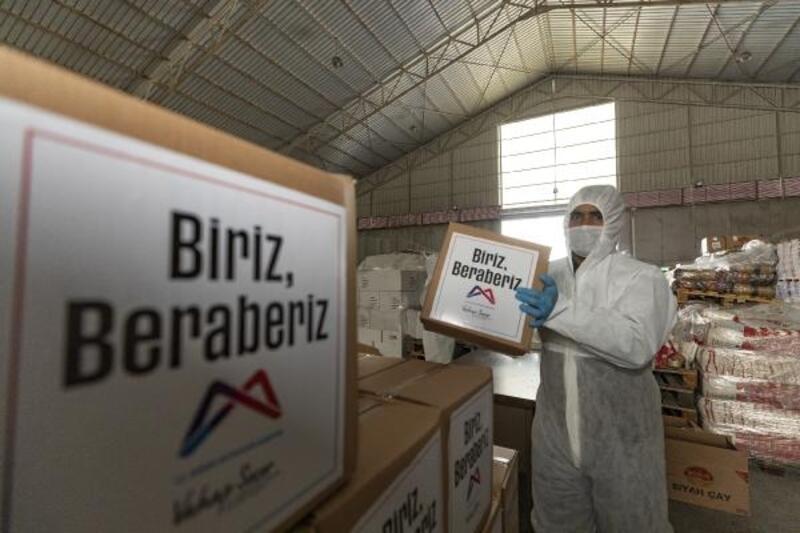 İhtiyaç sahiplerine 70 bin gıda paketi ulaştırıldı