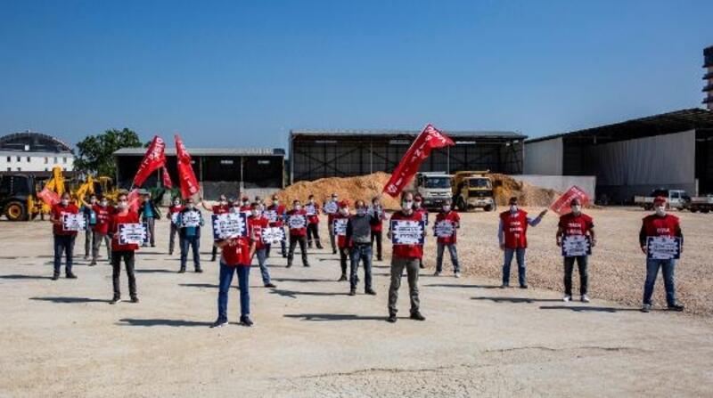 Nilüfer Belediyesi çalışanları 1 Mayıs'ı kutladı