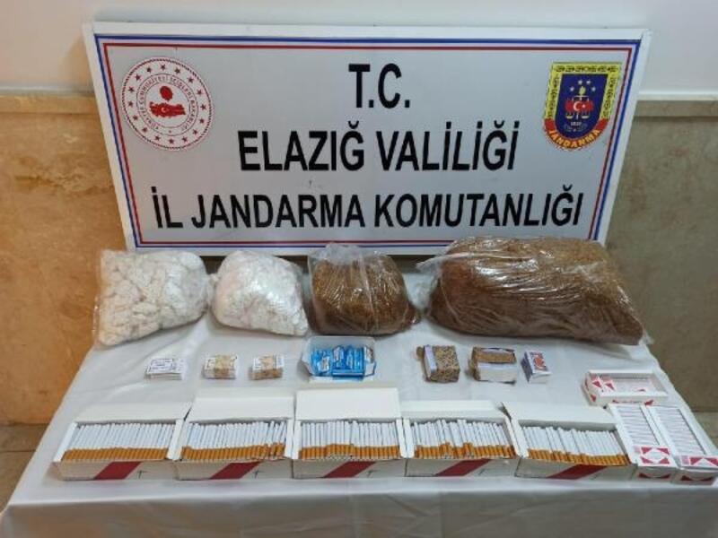 Elazığ'da 9 kilo tütün ele geçirildi