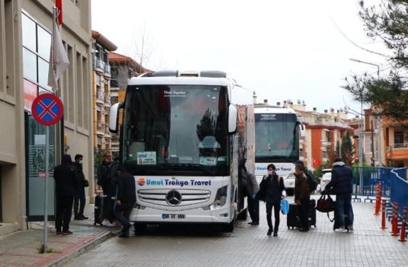 Tekirdağ'da karantinaya alınan 35 mürettebat, evlerine gönderildi