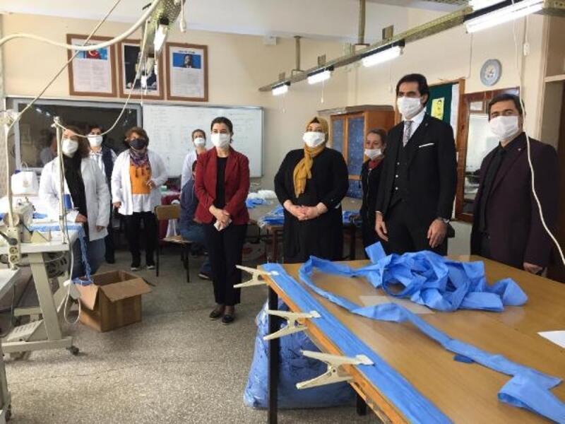AK Parti Edirne Milletvekili Fatma Aksal'dan maske üretimi yapılan kuruluşlara ziyaret