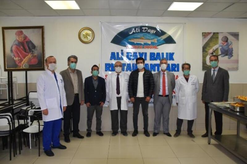 Malatya'da sağlık çalışanlarına alabalık ikramı