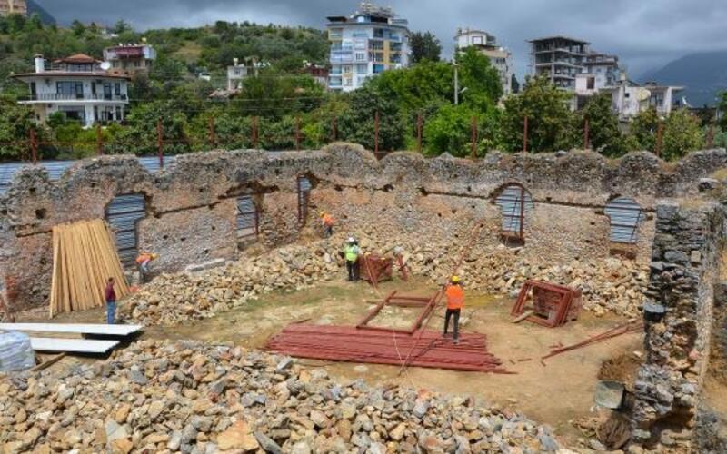 Alanya'da tarihi Gülevşen Camii restore ediliyor