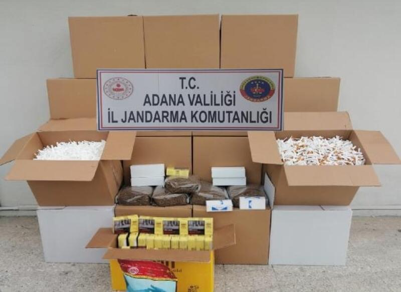 Ceyhan'da kaçak tütün operasyonu